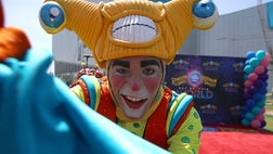 """Outer space may not be the first thing that comes to mind when you think of the circus, but that is exactly where Ringling Bros. and Barnum  Bailey goes for its newest show, """"Out of This World."""