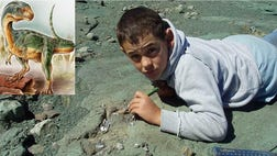 Diego Suarez, now , is the Chilean boy who found the first fossils of the Chilesaurus diegosuarezi back in .