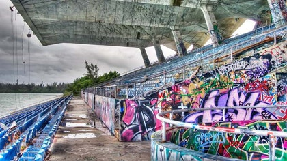 Designed in  by architect Hilario Candela, a -year-old Cuban immigrant at the time, the Miami Marine Stadium became the city's first structure by an exile architect and the first purpose-built venue for powerboat racing in the United States.