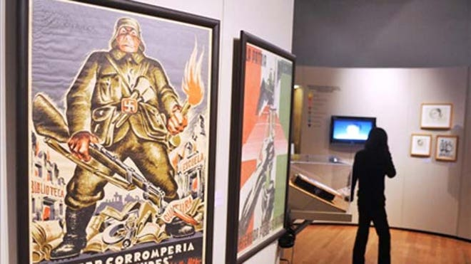 Mexico Exhibit Fascism Monsivais.JPG