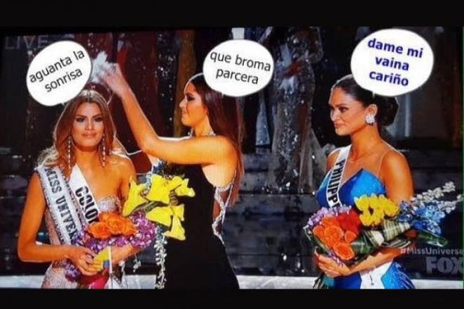 Funny Meme Miss Universe : Miss universe gaffe outrages colombians u but they laugh it off on