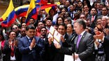 The Colombian government's delegation to peace talks with Revolutionary Armed Forces of Colombia, or FARC, guerrillas returns to Cuba Friday to negotiate changes to a peace deal that was narrowly rejected in an Oct.  plebiscite.