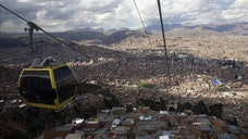 The world's highest urban funicular has opened a second line connecting the cities of La Paz and El Alto, a span of almost four kilometers (. miles) and at about , meters (, feet) above sea level, the Bolivian government said.