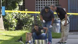 Prosecutors announced Tuesday that a San Diego man accused of violently attacking five homeless men, killing three of them, could face the death penalty.