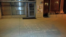 A pro-Donald Trump message was written in chalk in front of a Latino organization at the University of California, San Diego last Friday, drawing the ire of Latinos who say the message is a direct attack against Mexicans on campus. And, in fact, the message appears to be part of a larger social media campaign on campuses across the country.
