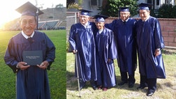 After  years, three World War II veterans who also happen to be best friends, graduated from high school together on Monday just in time for Father's Day.