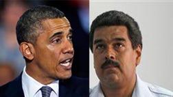 En la campaña, Nicolás Maduro no se apartó un ápice del discurso de su mentor contra los Estados Unidos. Era natural, en términos políticos, que el presidente encargado respondiera de ese modo a las expectativas de la clientela electoral que heredó. La cuerda bilateral, siempre tirante, se tensó aún más cinco días antes del anuncio de la muerte de Hugo Chávez: el  de marzo, Venezuela expulsó a dos miembros de la agregaduría aérea de la embajada norteamericana por proponer proyectos desestabilizadores a los militares venezolanos. En reciprocidad, el gobierno de Barack Obama despachó de Washington a dos diplomáticos venezolanos