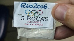 Brazilian police seized a shipment of both powder and crack cocaine packaged in bags bearing the Olympic rings and the logo of the  Rio Games.