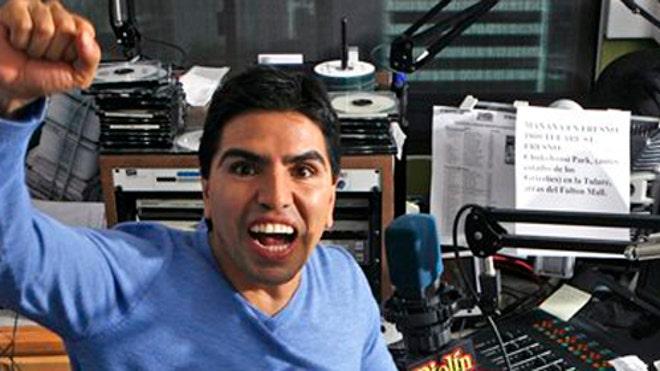 ... radio personality eddie piolin sotelo records his show piolin por