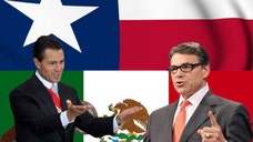 """Texas Gov. Rick Perry said Mexico's """"failure"""" to secure its own borders was the reason that so many undocumented children are streaming into the U.S. and the troops are on the border to protect Texans."""