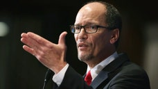 The labor secretary, who ran the Justice Department's Civil Rights Division until last summer, demurred when asked by reporters about the rumor that President Obama may nominate him to replace Eric Holder.