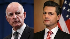 Gov. Jerry Brown travels to Mexico for three days of meetings and will discuss immigration in separate sit-downs with President Enrique Pena Nieto and Central American diplomatic and religious leaders.