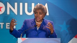 "Donna Brazile, who was a political commentator for CNN and is replacing DNC chair Debbie Wasserman Schultz, stood at the podium and said: ""I sincerely apologize, my friends, for those of you who took offense and feel betrayed and were betrayed by the ridiculous, insensitive and inappropriate emails by the staff of the Democratic Party."""