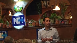 The rising star in the Democratic Party made a number of stops throughout New Hampshire alongside his brother, Congressman Joaquin Castro, before ending the day stumping for Clinton at a Mexican restaurant in Manchester.
