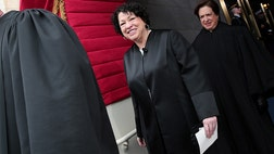 The first Hispanic Supreme Court Justice, Sonia Sotomayor, became an unlikely target during the Republican Debate Thursday night as candidates tossed her namesake into the conversation while they jockeyed for political points on the debate stage.