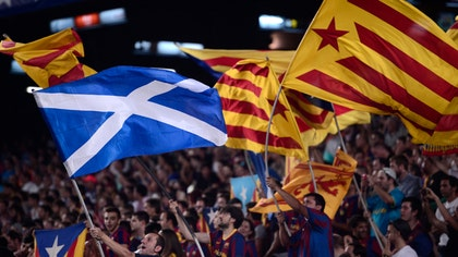 In Catalonia's regional capital of Barcelona, regional president Arturo Mas said he was rooting for a Yes vote in Scotland but stressed Catalans simply want the same chance as Scots who were given the right to vote.