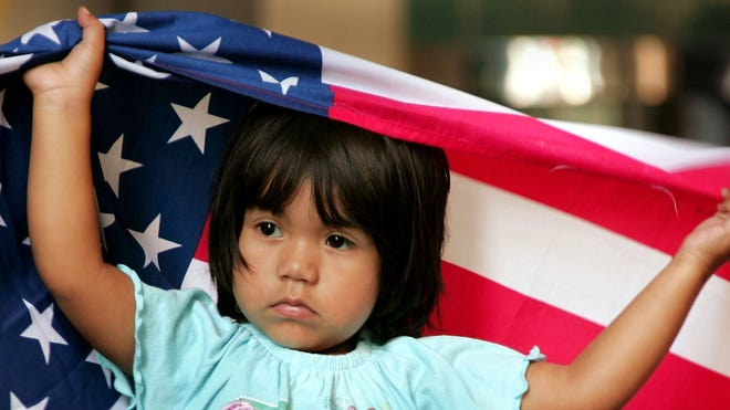 little girl us flag.JPG