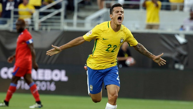 Brazil routs Haiti 7-1 in Copa as Coutinho nets hat trick | Fox News Latino