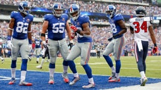 Music – both real and imagined – played a big part of the Giants' - victory over the Texans at MetLife Stadium on Sunday.
