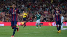 While Neymar shone in his return, Luis Suárez was limited to just a few touches in his  minutes.