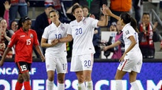 The country's all-time leading scorer Abby Wambach gave the U.S. the lead in the th minute to beat Trinidad and Tobago - in their opening Women's World Cup qualifying game.
