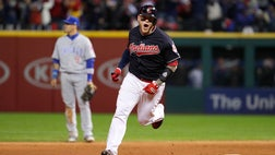 Roberto Perez had four RBIs with a pair of home runs and the Indians beat the Cubs - in Tuesday night's opener of a highly anticipated matchup between the teams with baseball's longest championship droughts.