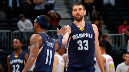 Grizzlies center Marc Gasol is out indefinitely with a broken bone in his right foot after an MRI exam found the fracture earlier Tuesday.