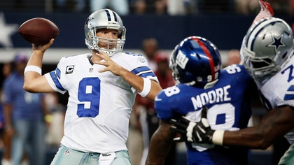 Tony Romo and DeMarco Murray teamed up to produce all four touchdowns in the win over the New York Giants on Sunday.