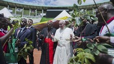 Pope Francis arrived in Uganda on Friday on