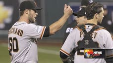 A shouting match between San Francisco Giants reliever Hunter Strickland and Kansas City Royals catcher Salvador Perez during Game  of the World Series on Wednesday night has a lot of people questioning whether Strickland's animosity had anything to do with Perez being a Latin ballplayer.