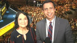 Civil rights icon Dolores Huerta says Hillary Clinton's nomination is good for women everywhere.