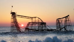 New Jersey officials announced a new thrill ride for Casino Pier destroyed in Super Storm Sandy. The name: Super Storm.