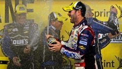 It's only fitting that Jimmie Johnson's latest romp through the record books was shrouded in post-race controversy.