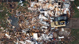 The devastating tornado that swept through Oklahoma turned houses into matchsticks and sent parents and teachers running to pull children from the wreckage of an elementary school in the eye of the storm.