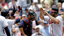 Evan Gattis kept up an amazing rookie season with his first grand slam, B.J.