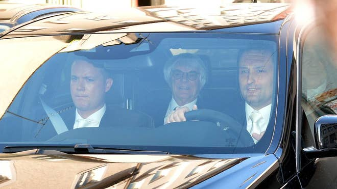 Formula One boss Bernie Ecclestone rejected accusations of bribery as he went on trial Thursday in a case that could t