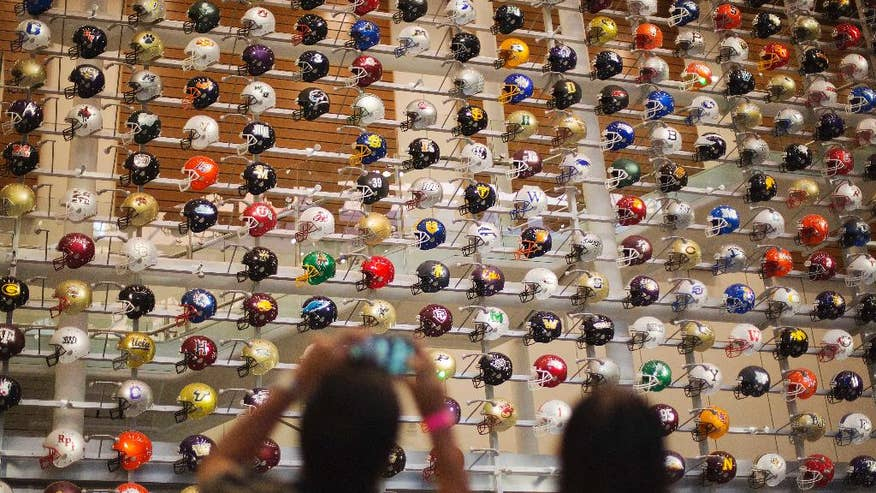 Ap photos college football hall of fame gives die hard fans a sneak