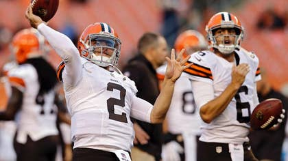 The Pittsburgh Steelers aren't surprised Brian Hoyer beat out Johnny Manziel for the starting quarterback job with the Cleveland Browns.