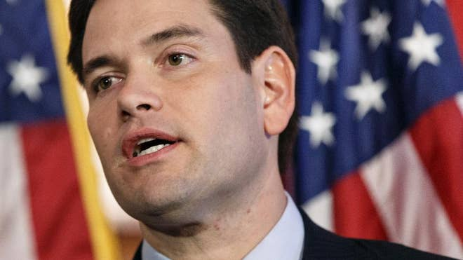 Sen. Marco Rubio called Wednesday for boosting U.S. defense spending and greater intervention abroad, positioning himself as the leading foreign policy hawk among Republicans considering runs for the White House.