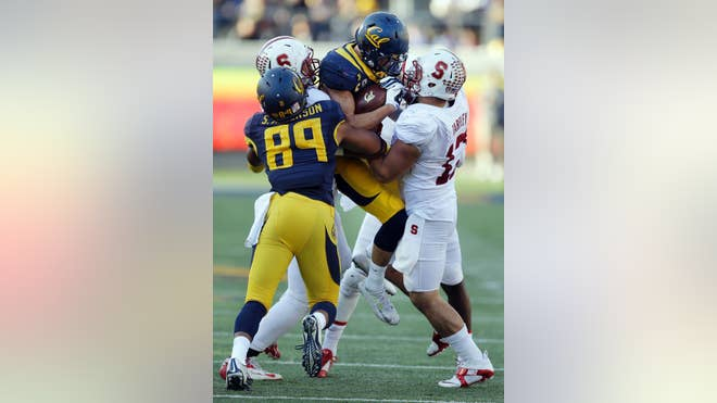 The Big Game got off to an inauspicious start for California when senior safety Michael Lowe was ejected for targeting on the opening play of the game.