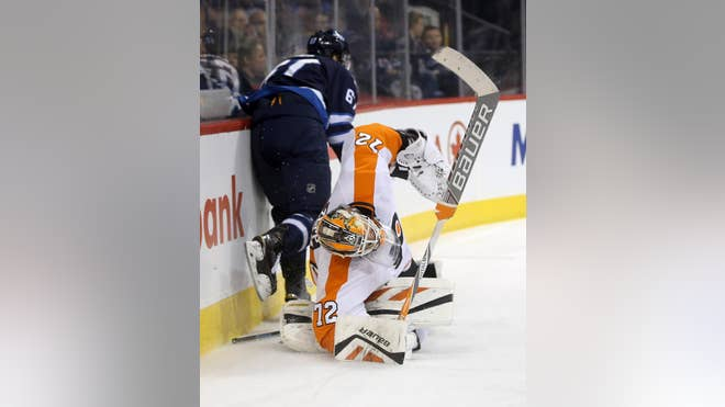 Rob Zepp made  saves in his NHL debut and Jakub Voracek scored  seconds into overtime, sending the Philadelphia Flyers to a - victory over the Winnipeg Jets on Sunday night.