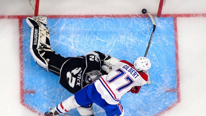 Marian Gaborik's second power-play goal tied it with  seconds left in regulati