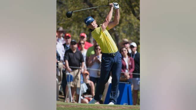 Jimmy Walker opened a four-stroke lead over fellow Texan Jordan Spieth, shooting a -under  on Saturday in his hometown Texas Open.
