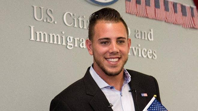 Miami Marlins pitcher Jose Fernandez, a native of Santa Clara, Cuba, has become a U.S. citizen.