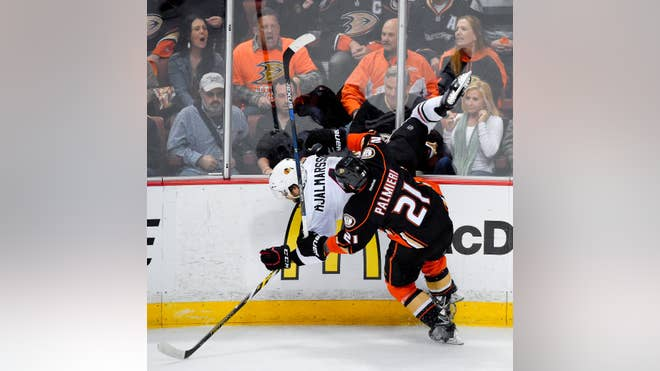 Matt Beleskey scored  seconds into overtime, and the Anaheim Ducks beat the Chicago Blackhawks - on Monday night in Game  to take a - lead in the Western Conference finals.