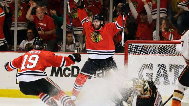 The Chicago Blackhawks have traded forward Brandon Saad to the Columbus Blue Jackets in a seven-player deal.
