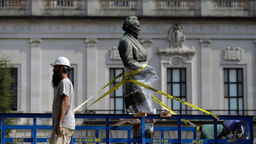 University of Texas removes statue of Confederate President Jefferson Davis from campus