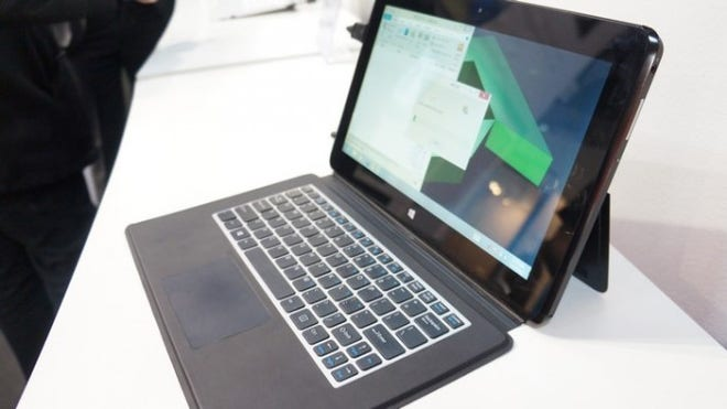 A hybrid 'Temash' notebook seen at Mobile World Congress