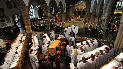 One of history's most infamous kings, Richard III, was reburied March  in a lavish ceremony in Leicester, England,  years after his violent death in battle