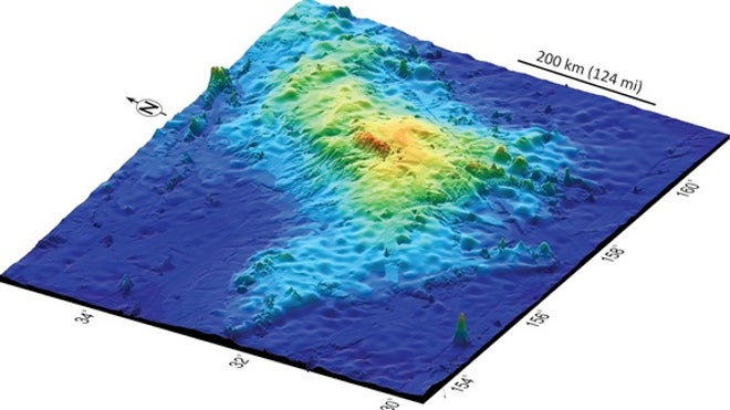 Largest volcano on Earth found under Pacific Ocean